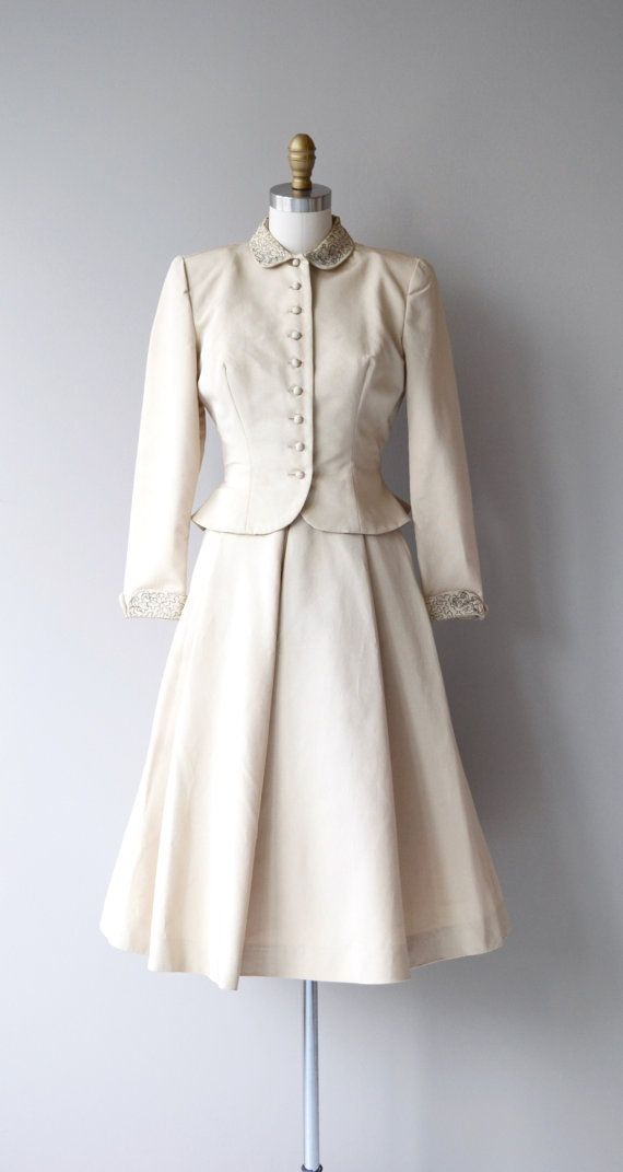"1950's ""Wedding Suit"". Gorgeous!"
