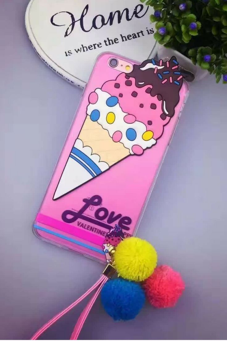 Awesome Cute Ice Cream Iphone 6 & Iphone 6 Plus Case For Teen Girls.