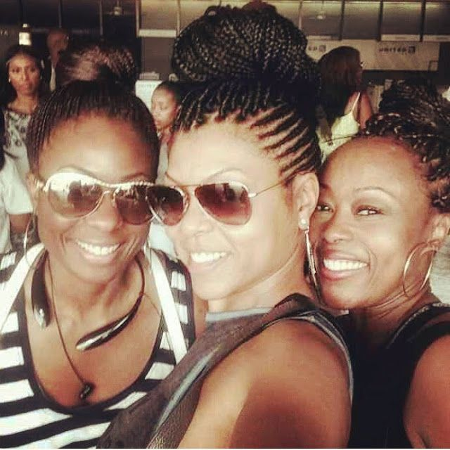Taraji P. Henson and friends rocking braided protective styles