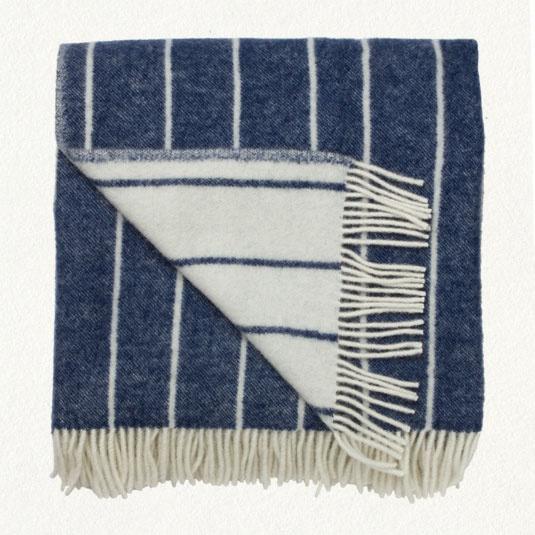 striped throw: Blankets Towels Throw, Indigo Stripes, Stripes Throw, Merino Blankets, Cream Stripes, Blue Stripes, Cozy Blankets, White Stripes, Throw Blankets