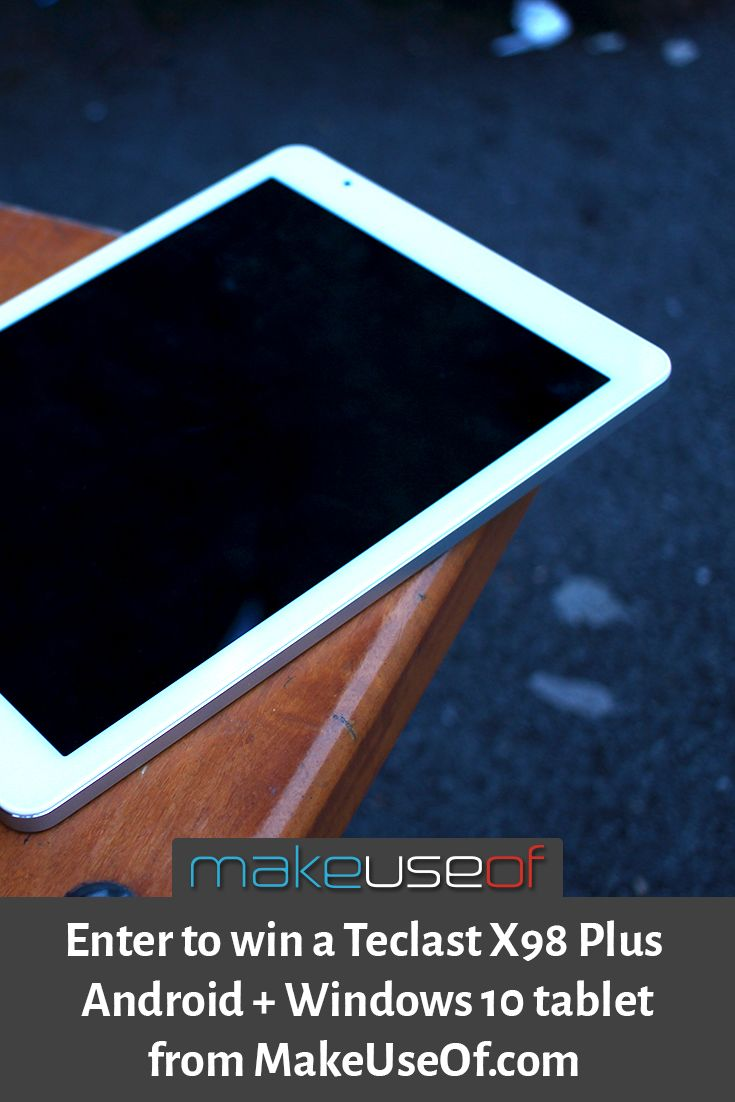 Enter to win a Teclast X98+ dual boot tablet from MakeUseOf.com