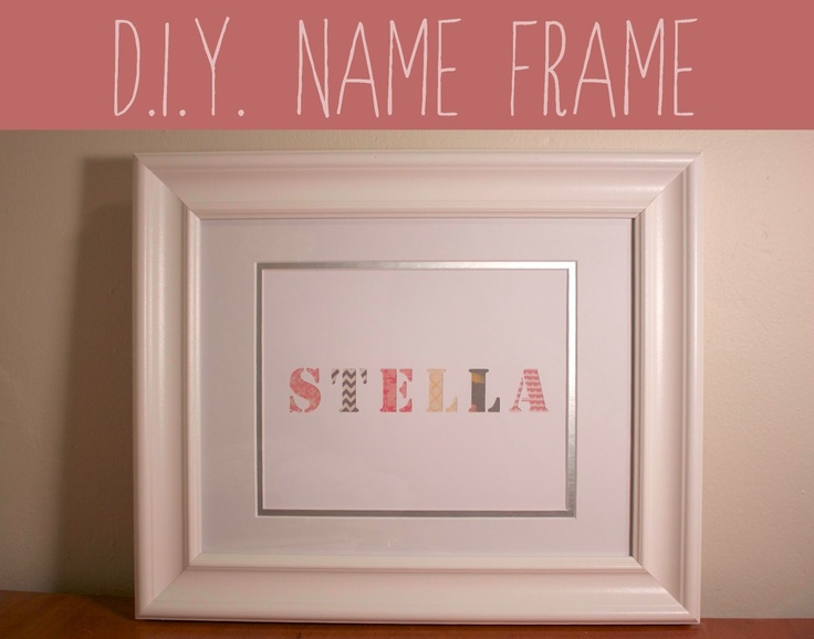 506 best Big letters & framed names images on Pinterest | Craft ...