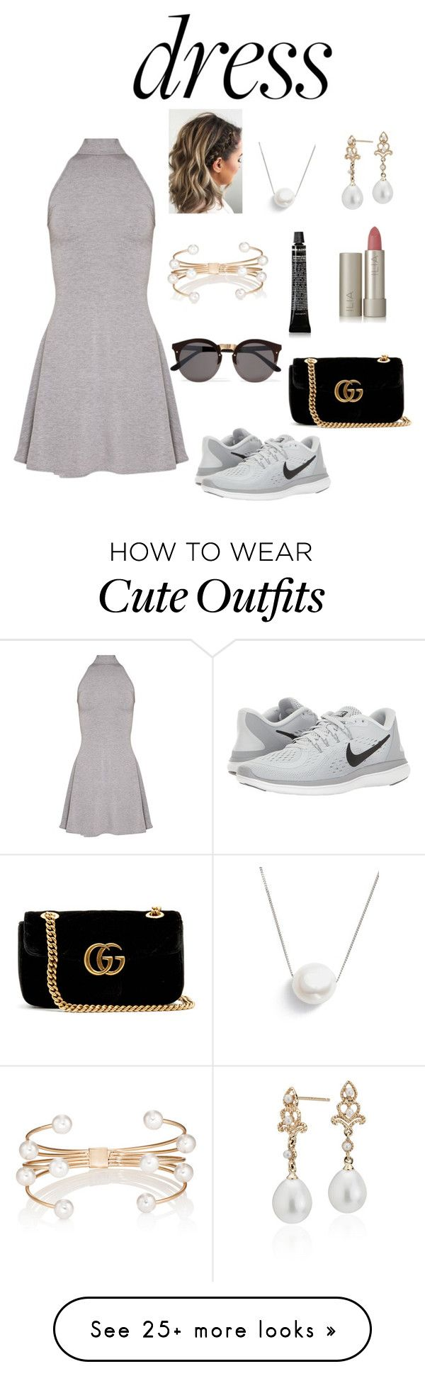 """Throw-and-go "" by mclove-13 on Polyvore featuring Illesteva, NIKE, Gucci, Chan Luu, Blue Nile, Ilia, Kenneth Jay Lane and Grown Alchemist"