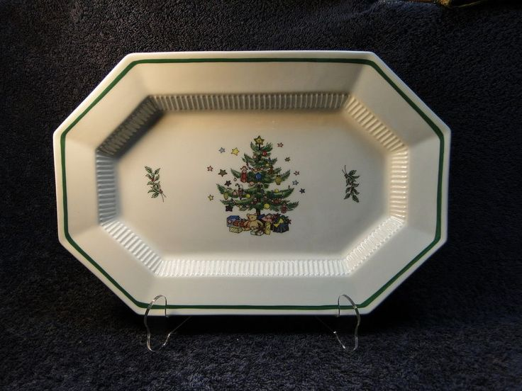 Nikko Christmastime Serving Platter 13  Octagon - MINT. Holiday DinnerwareNikkoServing ... & 17 best Nikko Holiday Dinnerware! images on Pinterest | Nikko ...