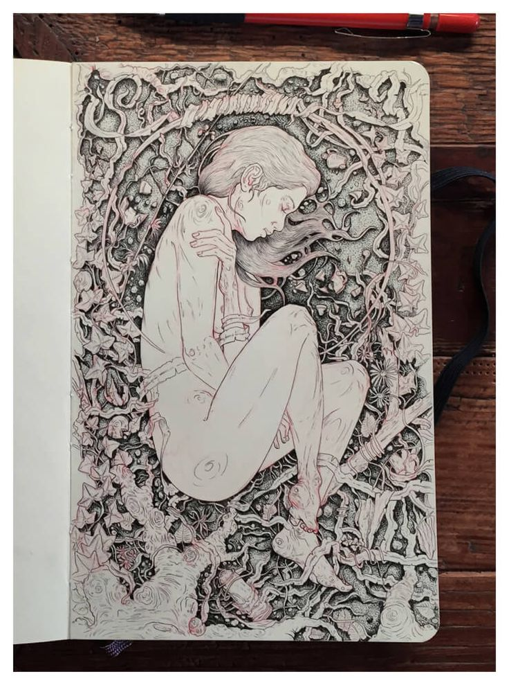 Here is the moleskine sketchbook of Grzesiek Wróblewski, he is a character designer, illustrator and 2D animator based in Wroclaw, Poland. To create the int