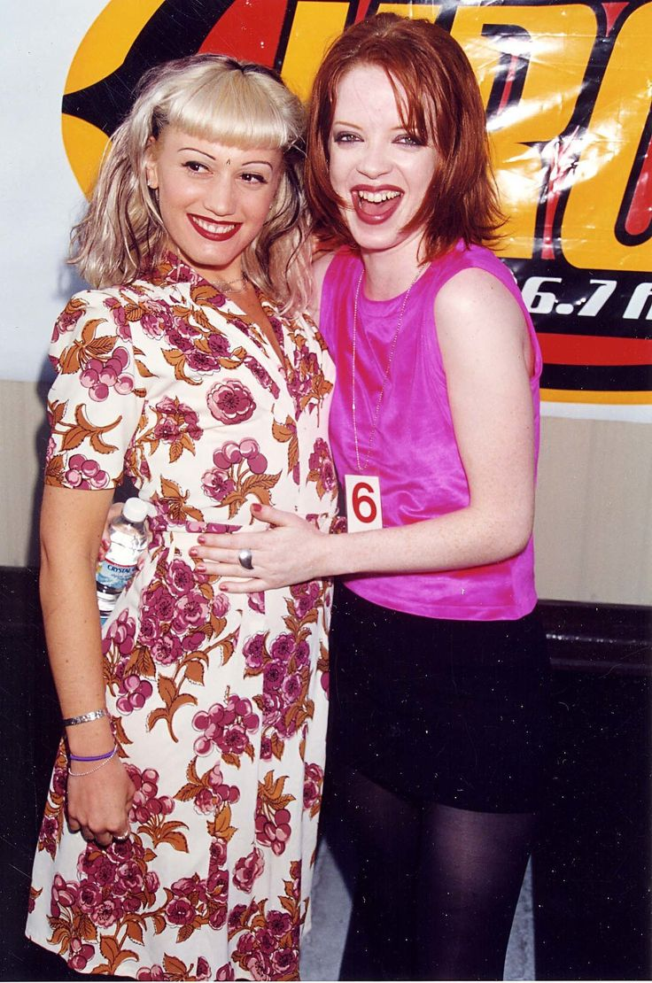 Gwen Stefani and Shirley Manson in 1996.