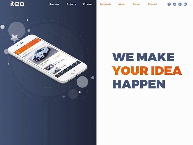 iteo.co new homepage by Kamila Figura - Dribbble