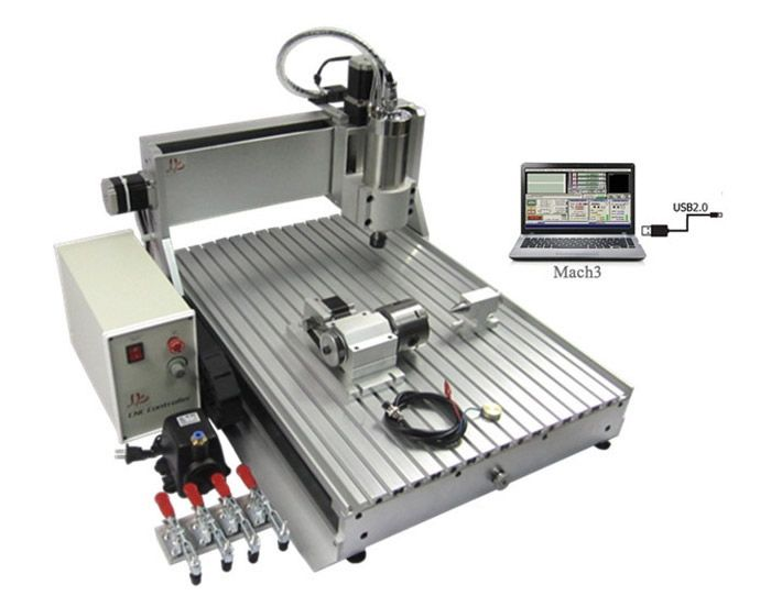 1919.00$  Buy here - http://ali20p.worldwells.pw/go.php?t=32669728549 - cnc wood router 6040Z-VFD2.2KW USB 4axis USB Port Free tax to Russia
