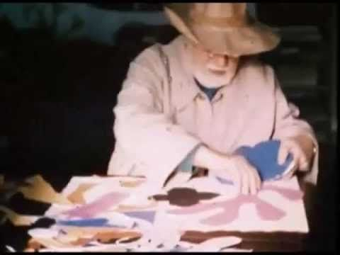 Footage of Henri Matisse making a paper cut out - YouTube