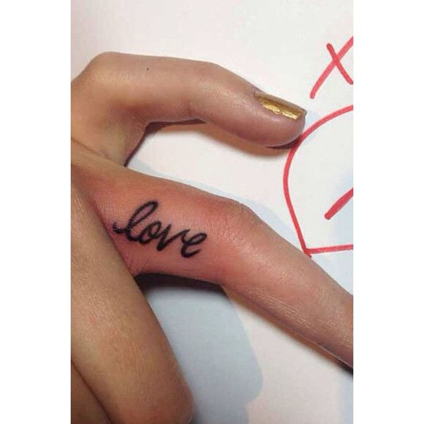28 Tiny Finger Tattoo Ideas ❤ liked on Polyvore featuring tatoos and tattoos
