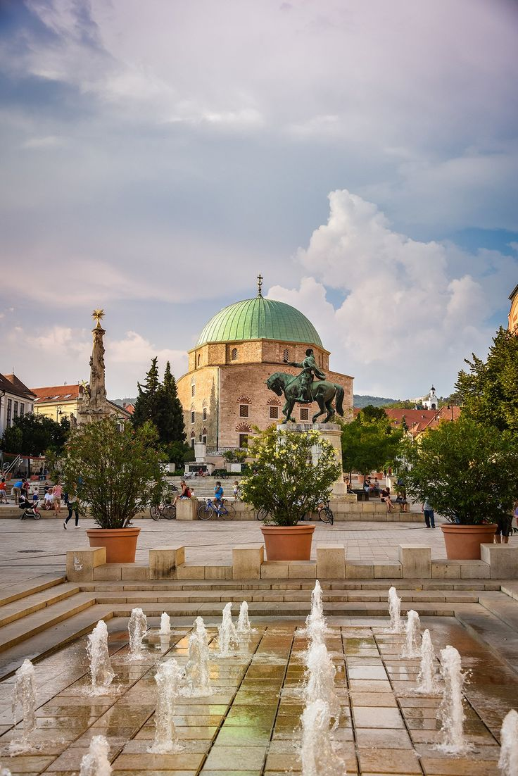 The beautiful ancient city of Pécs in southern Hungary
