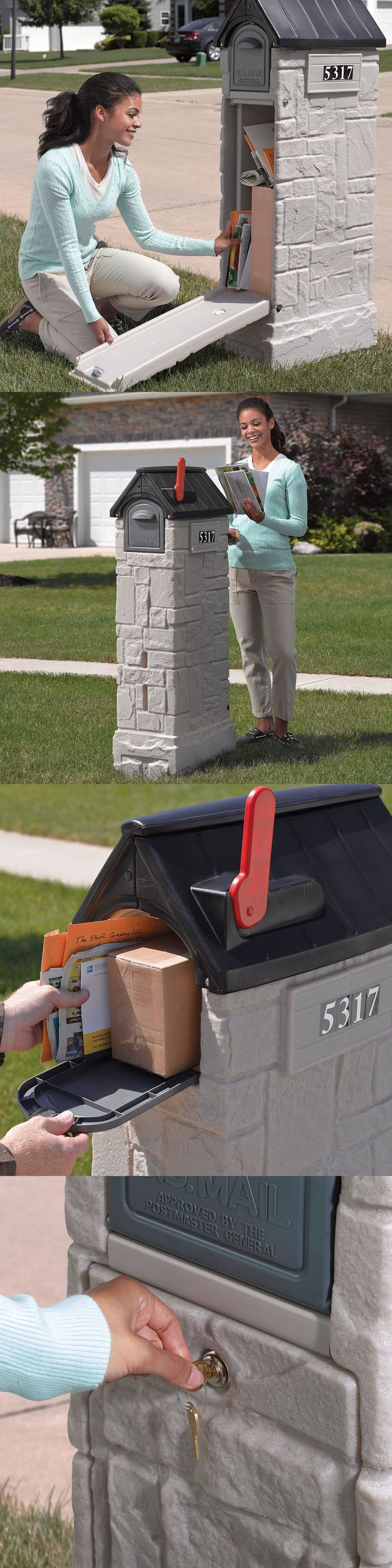 Goals and Nets 165936: Big Residential Mail Box Locking Home House Secure Tall Decorative Post Mount BUY IT NOW ONLY: $151.66