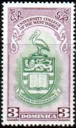 Domanica 1951 British West Indies University College Set Fine Mint SG 118 9…