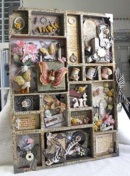 Patti Sylvia's Gallery: Printers Tray ***Scrappy Chic Cafe***