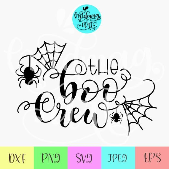 The Boo Crew Svg Boo Y All Svg Boo Svg Halloween Shirt Svg Spider Web Svg Happy Halloween Svg Funny Halloween Svg Cute Halloween Svg