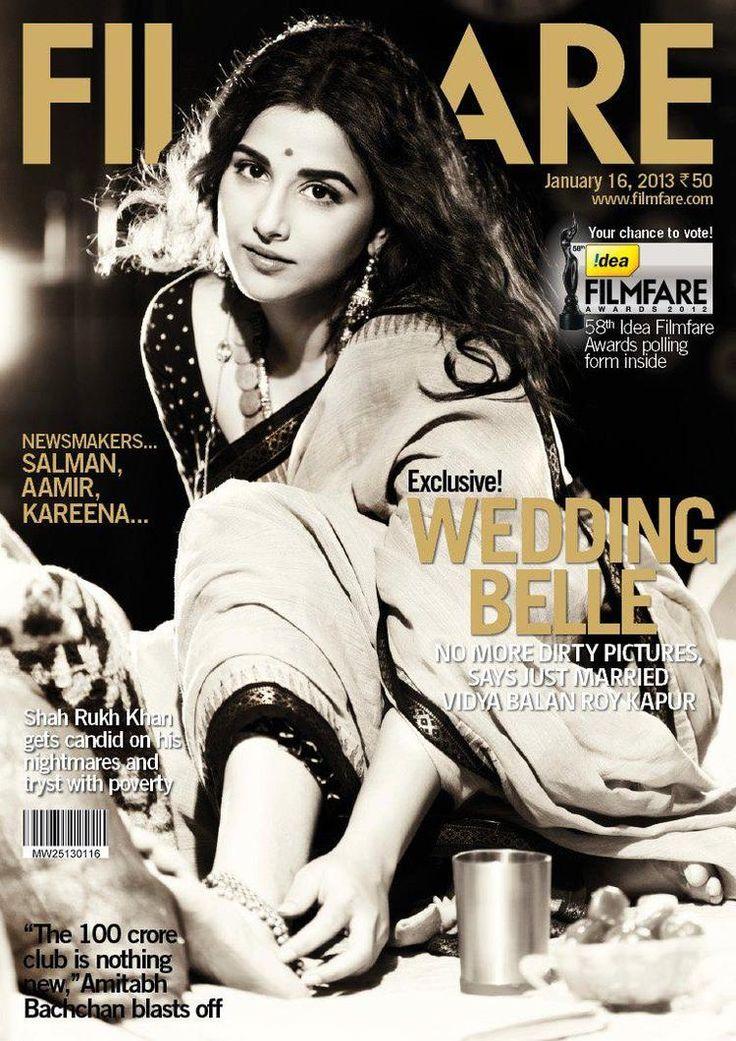 Vidya Balan on Filmfare Middle East Jan 2013 issue.