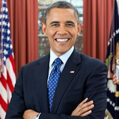 Barack Obama is the 44th President of the United States. His story is the American story -- values from the heartland, a middle-class upbringing in a strong family, hard work and education as the means of getting ahead, and the conviction that a life so blessed should be lived in service to others.