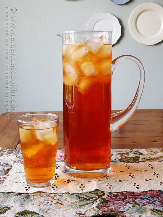 Olive Garden Peach Tea Copycat by Amanda Formaro of Amanda's Cookin'