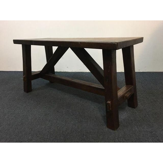 Image of Vintage Carved Oak Coffee Table / Bench - bench at back entry? - 25+ Best Ideas About Coffee Table Bench On Pinterest Tables
