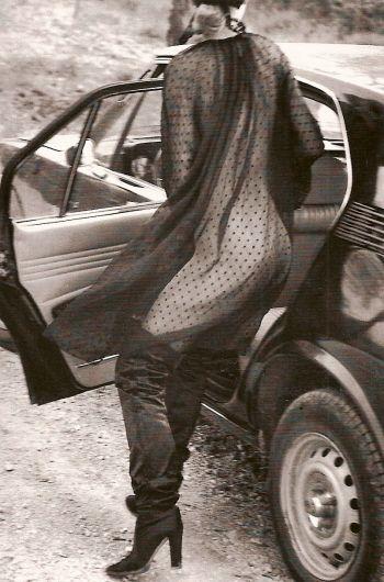 Karl Lagerfeld for Chloe - 1977 - Tuscany, Italy - Photo by Helmut Newton