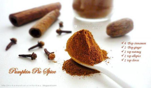 Citra's Home Diary: Pumpkin Pie Spice Recipe