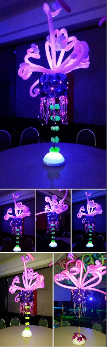 Australian Balloon Convention final night table decor designed by Tope Abulude highlighted by Sparkle Lites®