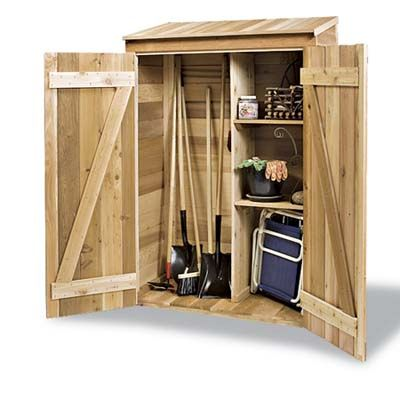 Garden Shed, add shingles and a drop table on the door