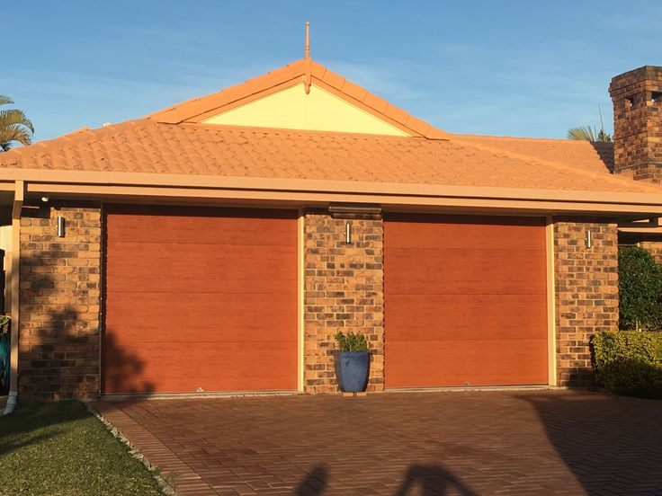 Centurion Sectional Door. Mediterranean Red Gum
