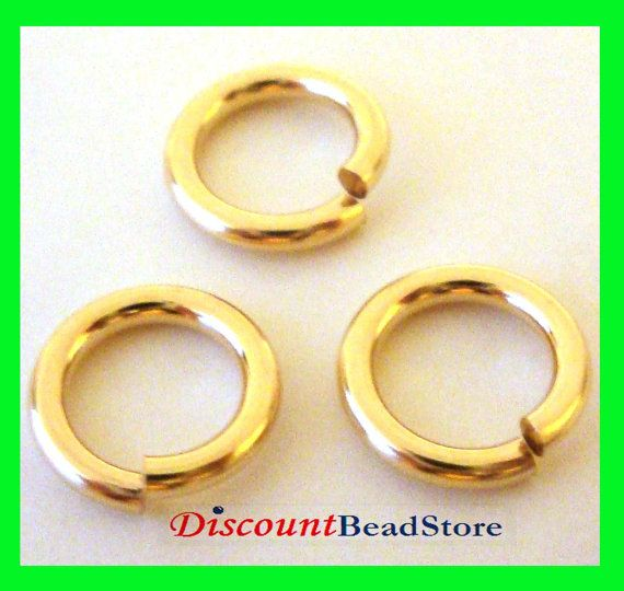 10pcs 8mm 16 gauge 14k yellow gold filled open jump rings charm pendant connector Gr23