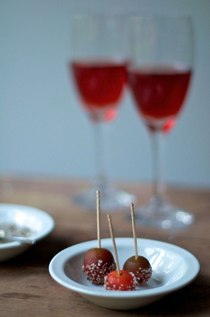 bacon vodka-spiked cherry tomatoes