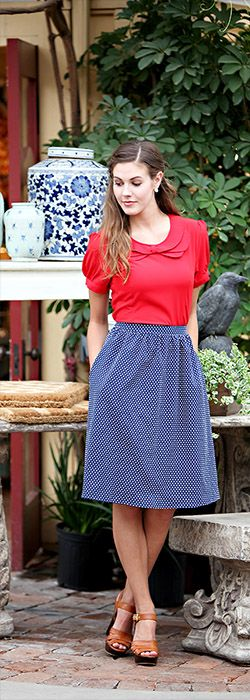 Perfect Polka Dot Skirt [MSS2799] - $39.99 : Mikarose Boutique, Reinventing Modesty
