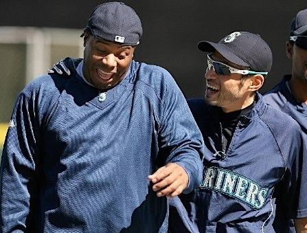 Ken Griffey and Ichiro Suzuki