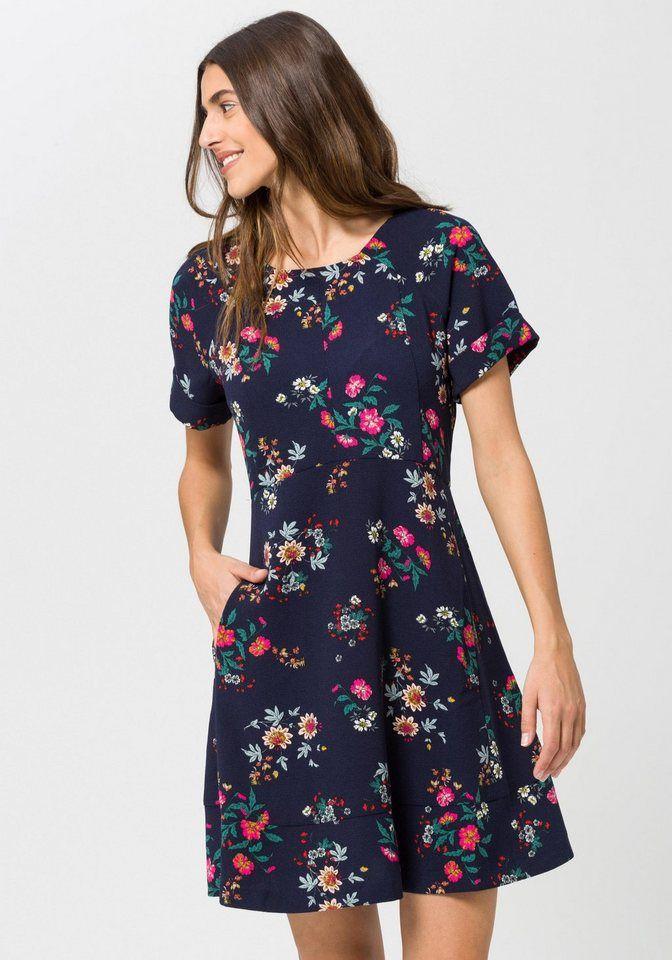 a49b056b9f985b edc by Esprit Druckkleid mit Alloverprint für 59,99€. Kurzärmeliges Kleid  von EDC