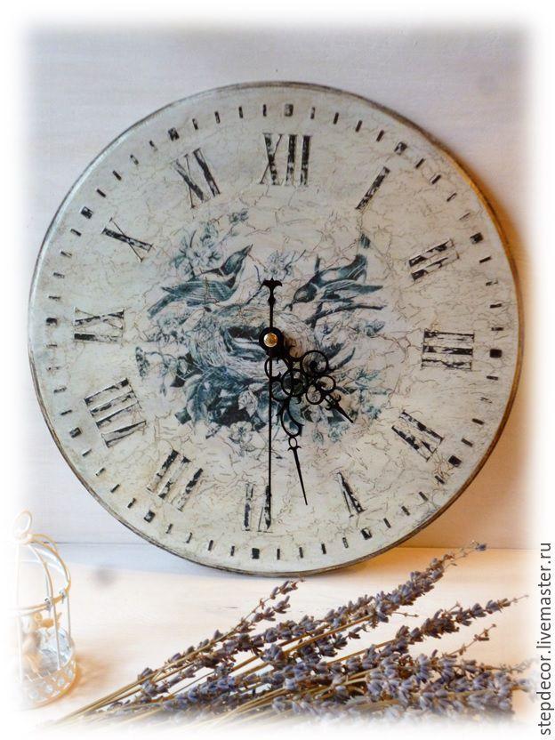 """Купить Часы настенные """"Винтаж"""" - белый, часы настенные, часы френч винтаж, часы интерьерные"""