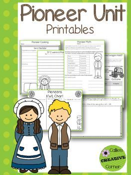These printables go along with my Pioneer Unit - Seven Days of Hands On Activities