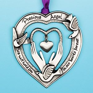 Precious Angel Baby Memorial Ornament