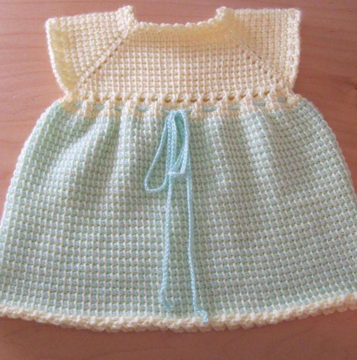 Tunisian Crocheted Baby Dress from craftsy.com