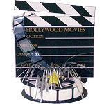 Decoration: Hollywood Star Attraction Directors Board Centrepiece Decoration (each)