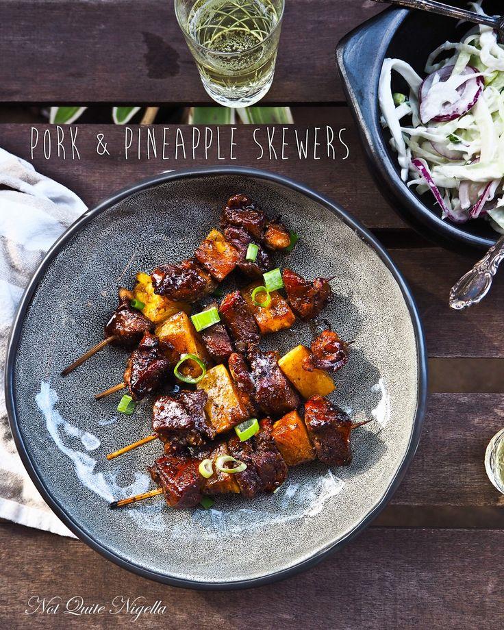 Balsamic Pork & Pineapple Skewers