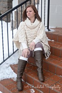 Crochet Pattern: Urban Cabled Poncho by A Crocheted Simplicity