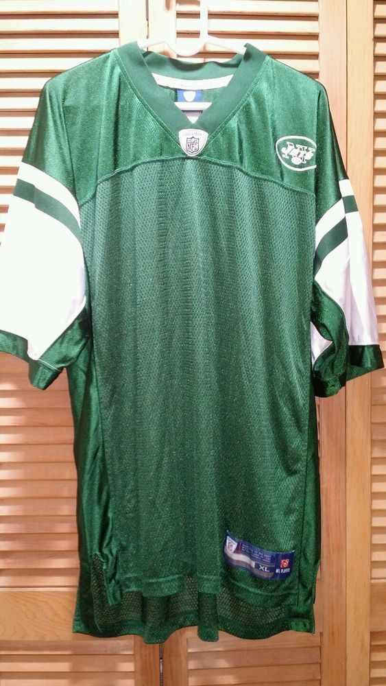 Football Jersey NY Jets Equipment NFL ONFIELD XL Retro Green White NJ #EquipmentNFLOnField #NewYorkJets