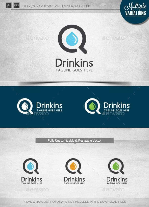 [ Drink Finder Logo Template ] 300dpi, CMYK Print Ready Easy to customize and change colorAll vectors AI & EPS files Included.Ad