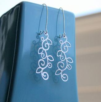 Henna Floral Earrings
