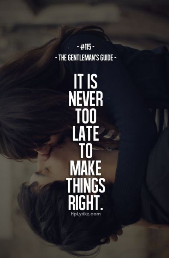 ∞...never too late
