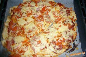 Bezlepková pizza těsto z pomazánkového másla