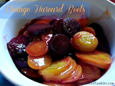 Orange Harvard Beets Recipe - Farmer's Wife Rambles