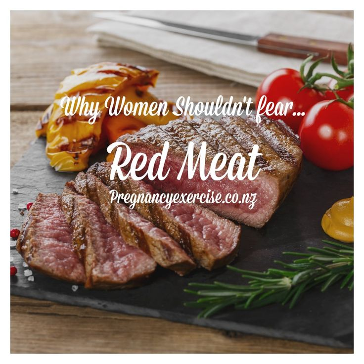 Pregnancy and red meat