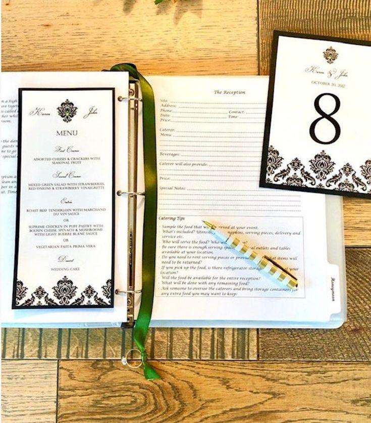 Custom wedding planner deluxe binder diy wedding book