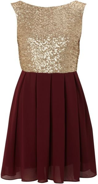 Burgundy and gold christmas pary