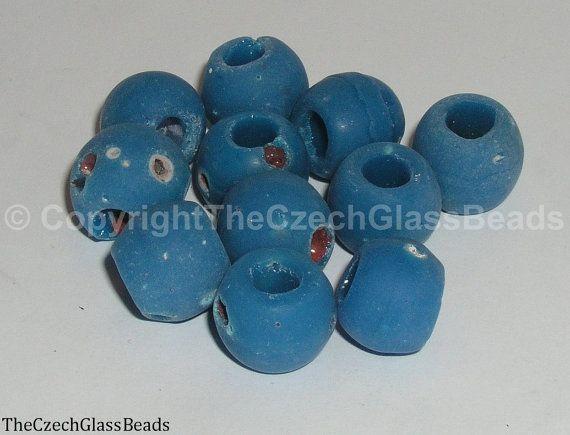 50g Czech Vintage Sintered Saucer Beads 15mm by TheCzechGlassBeads